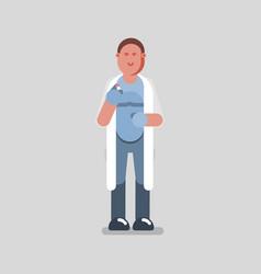 man pharmacist standing vector image