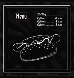 menu fast food vector image