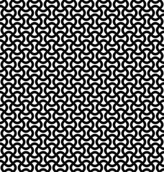 Monochrome curly stripe repeat pattern vector image