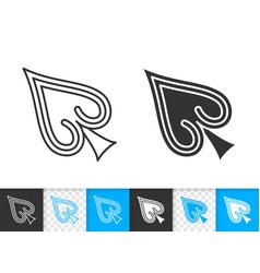 mouse cursor simple black line icon vector image
