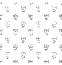 Mousetrap pattern seamless vector