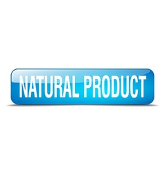natural product blue square 3d realistic isolated vector image