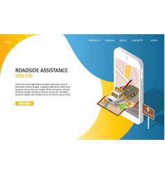 online roadside assistance landing page website vector image