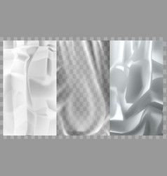Paper plastic film metal foil texture background vector