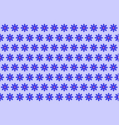 pattern from abstract blue flower vector image