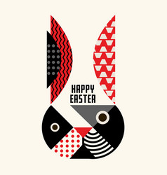 rabbit easter abstract geometric design vector image