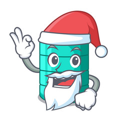 Santa cartoon water tank for in agriculture vector