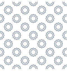 seamless geometric pattern with cog wheels vector image