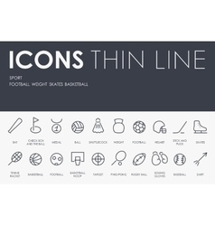 Sport Thin Line Icons vector image