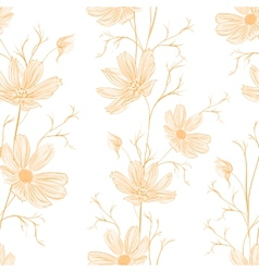 Spring style seamless background vector