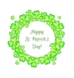 St Patricks Day holiday frame vector image