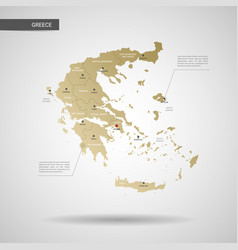 stylized greece map vector image