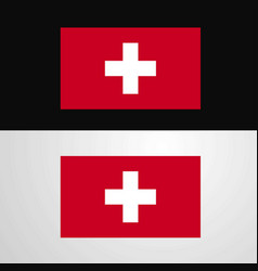Switzerland flag banner design vector