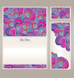 The pattern drawn for letterhead and business card vector image