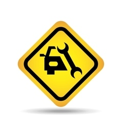 Traffic sign concept icon support car tool vector