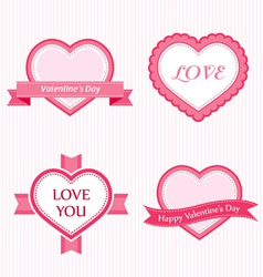 valentine collection of labels vector image
