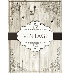 vintage card template vector image