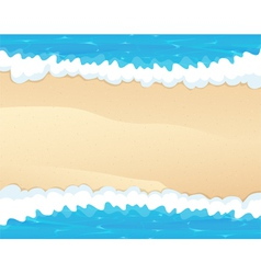 Waves and sand vector image