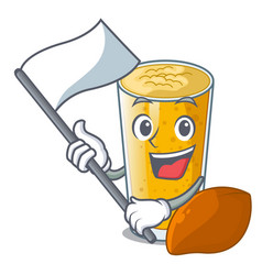 With flag lassi mango in the character fridge vector