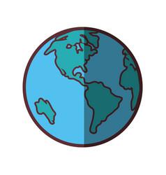 World planet icon vector