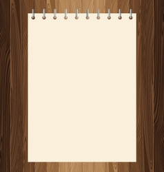 Yellow paper on lath boards vector