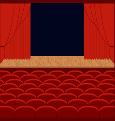 a theater stage vector image vector image