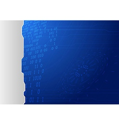 Blue conceptual background template vector image vector image