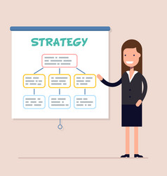 businesswoman or boss conducts a training and vector image vector image