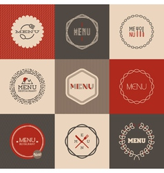 Labels set for restaurant menu design vector