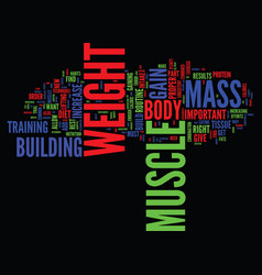 learn to gain weight and build muscle text vector image