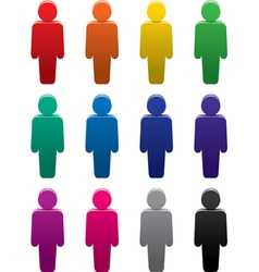people stand color symbols set vector image vector image