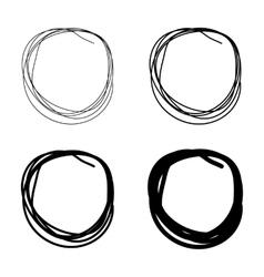 Set of Hand Drawn Scribble Circles vector image