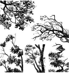 TREES - Drawn Watercolor vector image