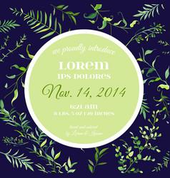 wedding invitation or congratulation floral card vector image vector image