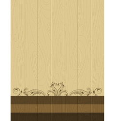 wooden background with decorative ornaments vector image vector image