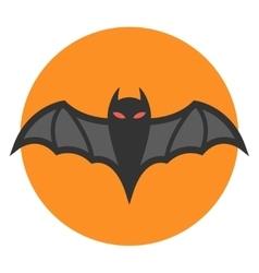 Bat icon flat vector