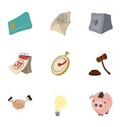 Company icons set cartoon style vector image vector image