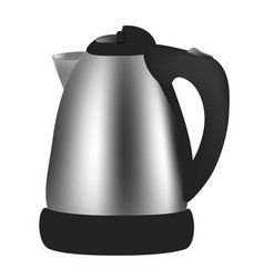 electric kettle on white background vector image