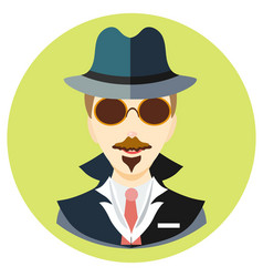icon man spy in a flat style image on a vector image vector image