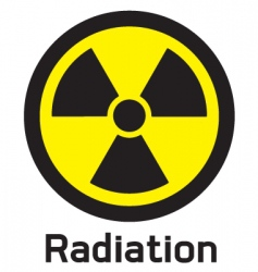 nuclear symbol vector image