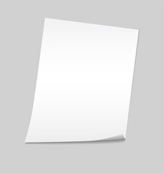 Paper on a gray background mock up vector