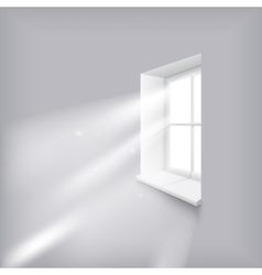 Sunshine in window vector