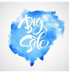 Big Sale Inscription Calligraphy Lettering vector image