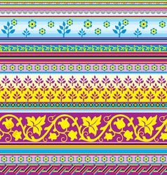 floral striped background vector image vector image