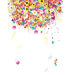 Happy holiday funny background with balloons for y vector image vector image