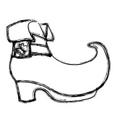 irish elf boot vector image