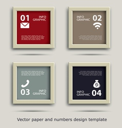 paper and numbers icon communication design vector image vector image