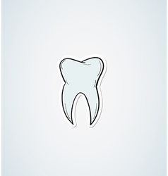 sketch of the tooth vector image
