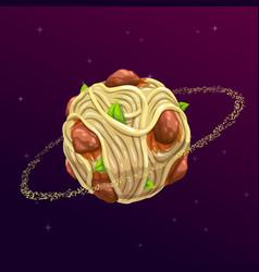 spaghetti planet concept vector image vector image