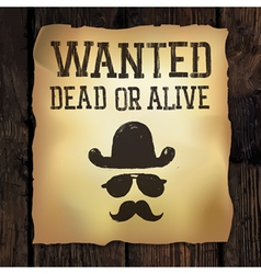wanted poster vector image vector image